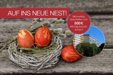 Bis einschließlich 21. April 2017 Mietvertrag bei unserer Magdeburger Niederlassung abschließen und 500 € Möbelgutschein von ROLLER geschenkt bekommen!